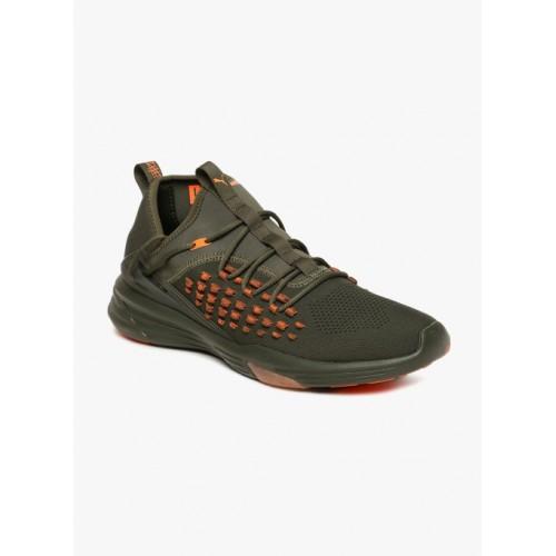 Buy Puma Olive Green Mantra FUSEFIT Unrest Running Shoes online ... 2fb3cedd0