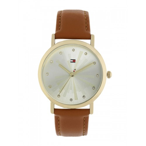 Tommy Hilfiger Women Silver-Toned & Gold-Toned Leather Analogue Watch TH1781899