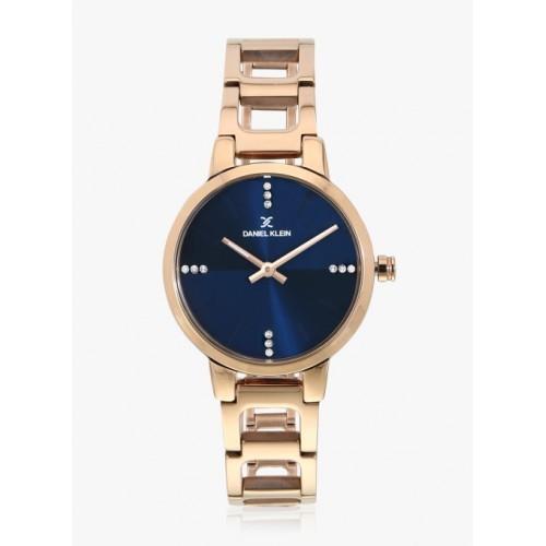 Daniel Klein Dk11763-6 Gold/Navy Blue Analogue Watch