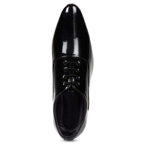 Shoe Island Black Patent Leather Lace Up Formal Shoes