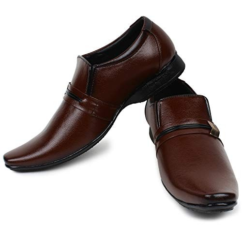 Shoe Island Leathere Coffee Brown Formal Shoes