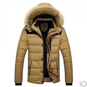 99093d477 Buy CATSAP Snow Puffer Coats for Men Winter Fur Removable Hooded ...