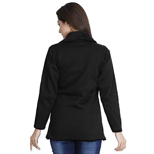 fanideaz Women's Black Solid Jacket