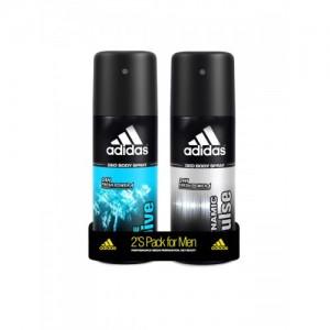 Adidas Men Pack of 2 Dynamic Pulse & Ice Dive Deodorant Spray 150 ml