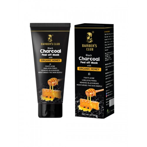 BARBERS CLUB Charcoal Peel Off Mask with Organic Honey 60 gms