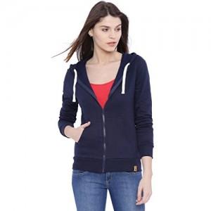 Campus Sutra Women's Navyblue Cotton Jacket