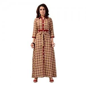 Madhuram Textiles Women's Cotton A-Line Kurti