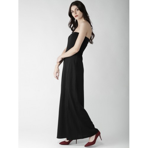 20Dresses Black Polyester Solid Tube Maxi Dress