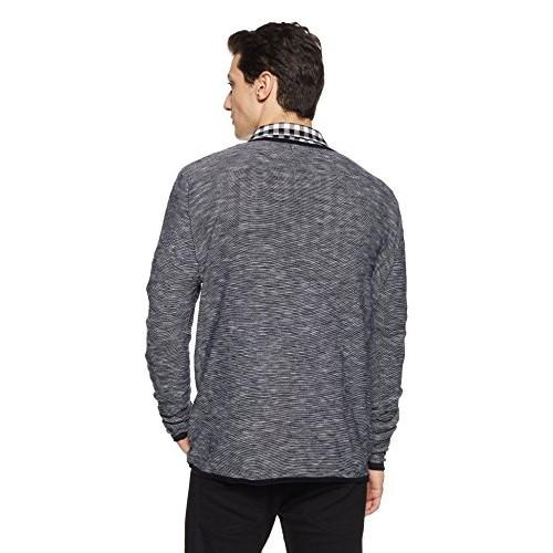 Celio Black Cotton Solid Sweater
