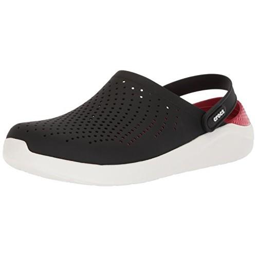Crocs Unisex Black Synthetic Lite Ride Clogs