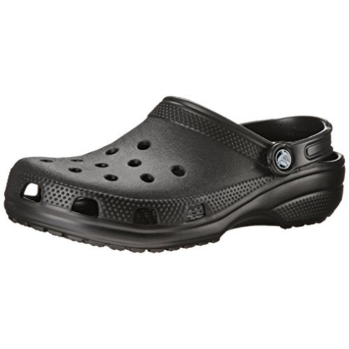 Crocs Unisex Black Synthetic Classic Clogs and Mules