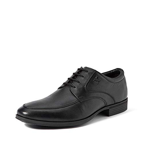 Extacy By Red Chief Men's Black Formal Shoes