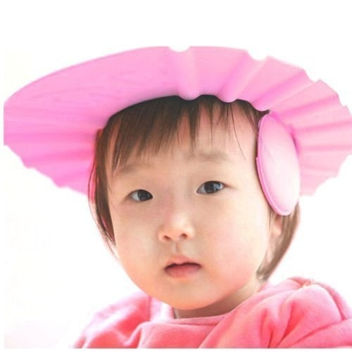 New Adjustable Safe Soft Bathing Baby Shower Cap Wash Hair For Child