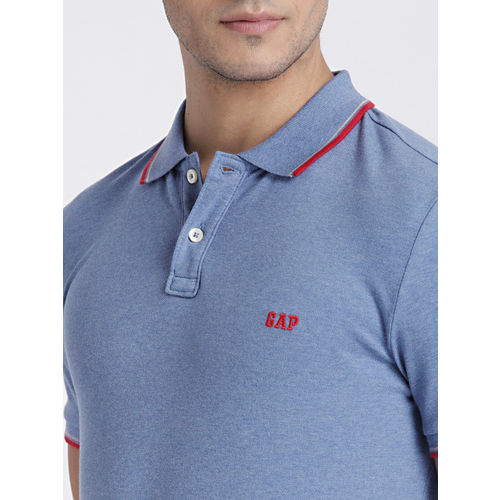 fea9b245a Buy GAP Men s Blue Short Sleeve Polo Shirt in Stretch online ...