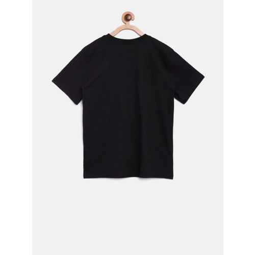 The Childrens Place Boys Black Printed Round Neck T-shirt