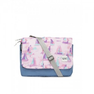 Wildcraft Unisex Blue & Pink Printed Messenger Bag