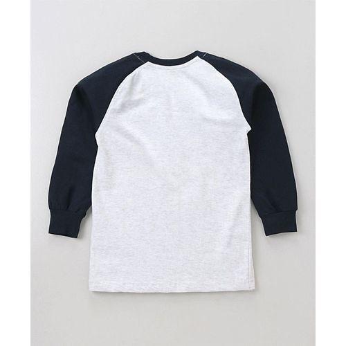 Smarty Full Raglan Sleeves Tee Feel Good Print - Off White
