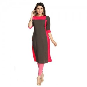 ALC Creations Grey Crepe Straight Kurti