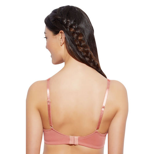 Enamor Peach-Coloured Solid Underwired Lightly Padded Everyday Bra