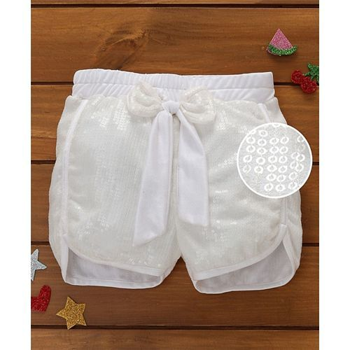 Murphy Mouse Sequined Shorts - White