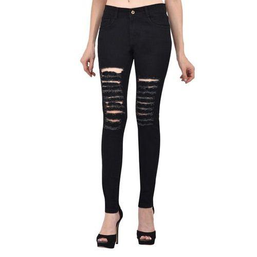 fee7c0ca2a5d ... Ansh Fashion Wear Women s Distressed Denim Jeans - Contemporary Regular  Fit Rugged Denims for Women ...