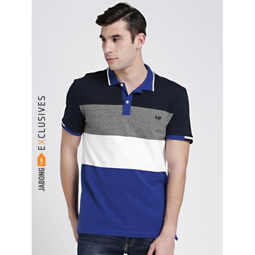 fe3af900 ... GAP Multicolor Cotton Colourblocked Regular Fit Polo T-shirt ...