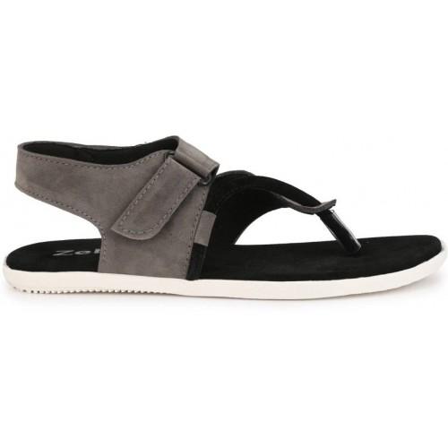 ZebX Men Grey Casual sandals