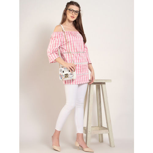 1360ace12d1613 Buy Marie Claire Casual Shoulder Strap Striped Women s Pink