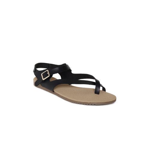 b24e0a6add3d Buy Inc 5 Women Black Solid One Toe Flats online