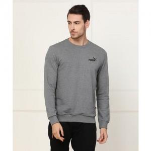 Puma Full Sleeve Self Design Men's Sweatshirt