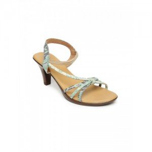 Inc 5 Women Green Printed Heeled Sandal