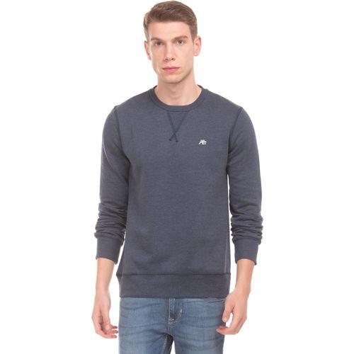 Aeropostale Full Sleeve Solid Men Sweatshirt