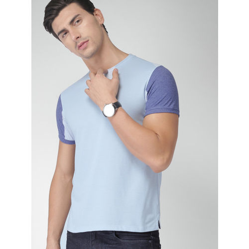 INVICTUS Men Blue Solid Round Neck T-shirt