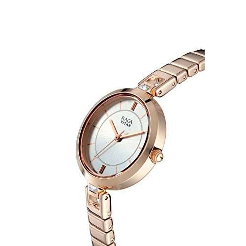 Titan Raga Viva Analog Silver Dial Women's Watch-2603WM01