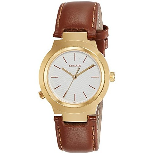 Sonata Act Safety Watch Analog White Dial Women's Watch-90057YL03