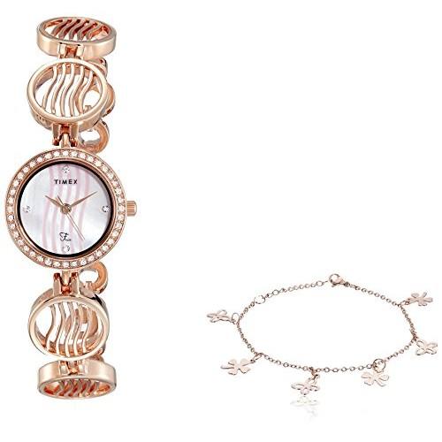 Timex Fria Analog Pink Dial Women's Watch-TWEL12302T
