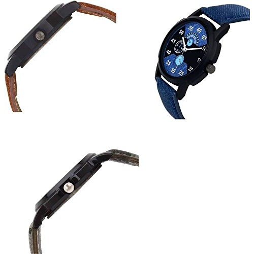 Xforia Analogue Multicolor Dial Watch For Men(Pack of 3)