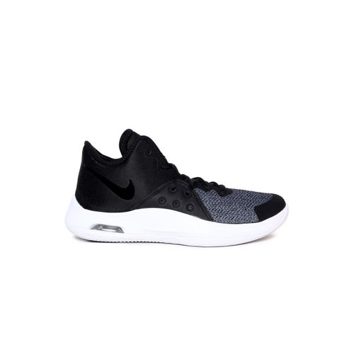 b7ff69f06684 ... Nike Unisex Black   Grey Textile Mid-Top Air Versitile III Basketball  Shoes ...