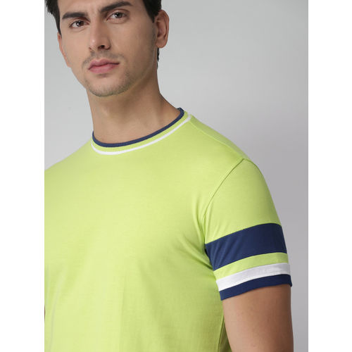 Green Solid Round Neck T-Shirt