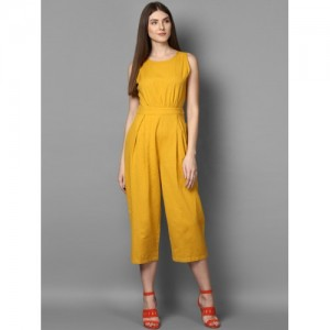 STREET 9 Mustard Solid Culotte Jumpsuit