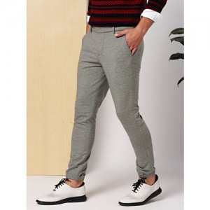 INVICTUS Men Grey Slim Fit Solid Joggers