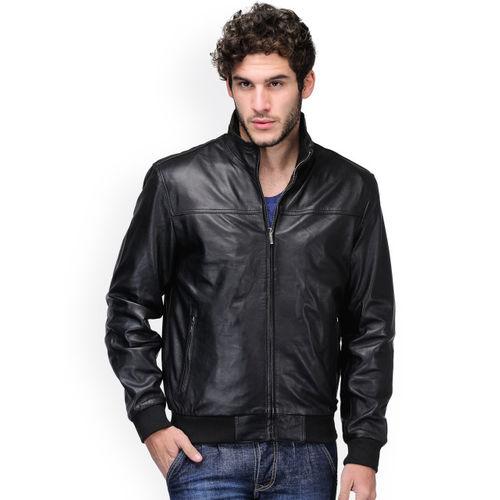 Teakwood Leathers Men Black Leather Jacket