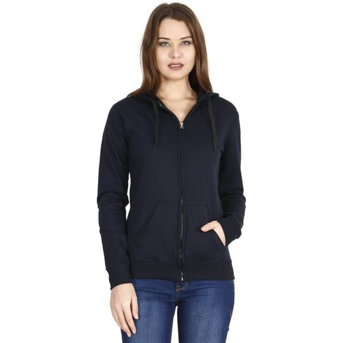 FLEXIMAA Full Sleeve Solid Women's Sweatshirt