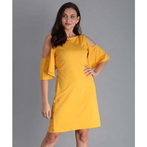 Harpa Women's Blouson Yellow Dress