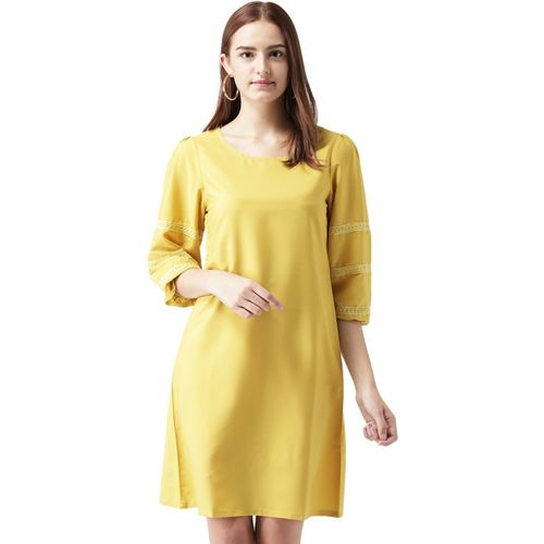 @499 Women's Sheath Yellow Dress