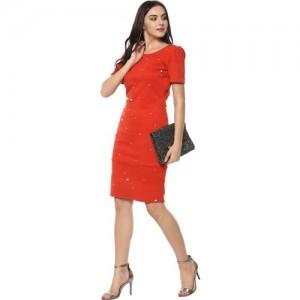 Zima leto Women A-line Red Dress