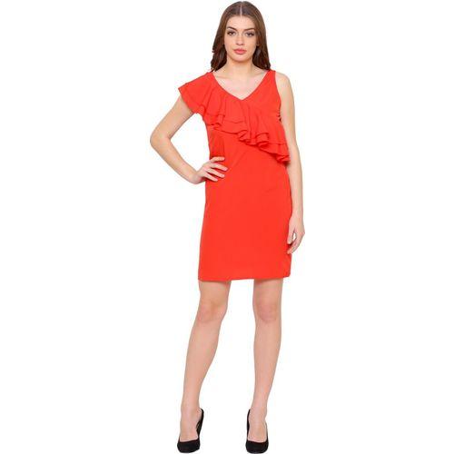 @499 Women Shift Red Dress
