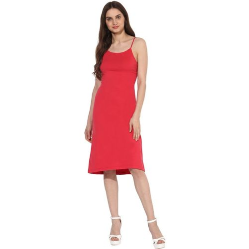 Heather Hues Women A-line Red Dress