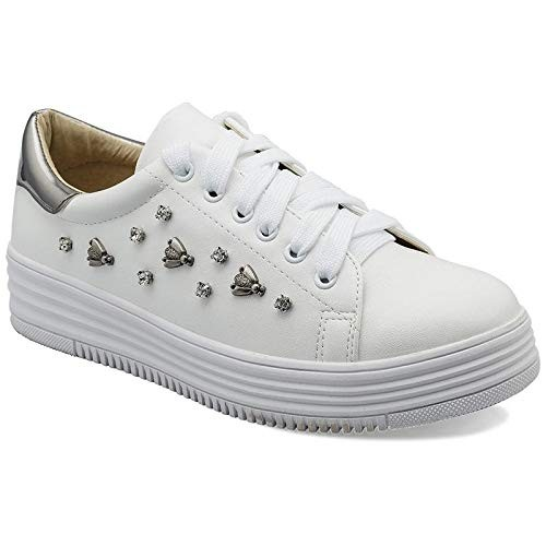 Buy tresmode Romance White Sneakers for