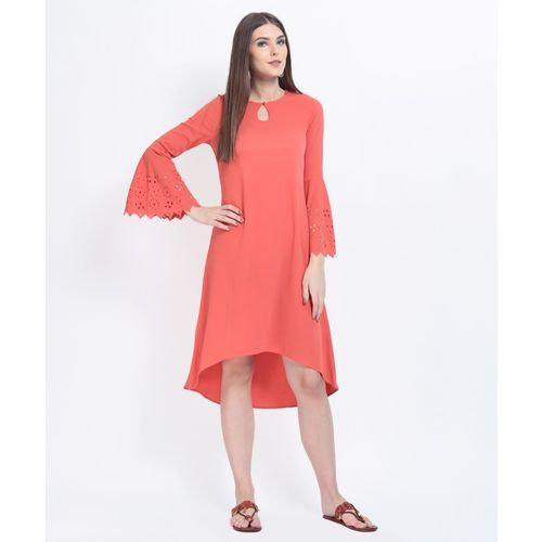 RARE ROOTS Women A-line Orange Dress